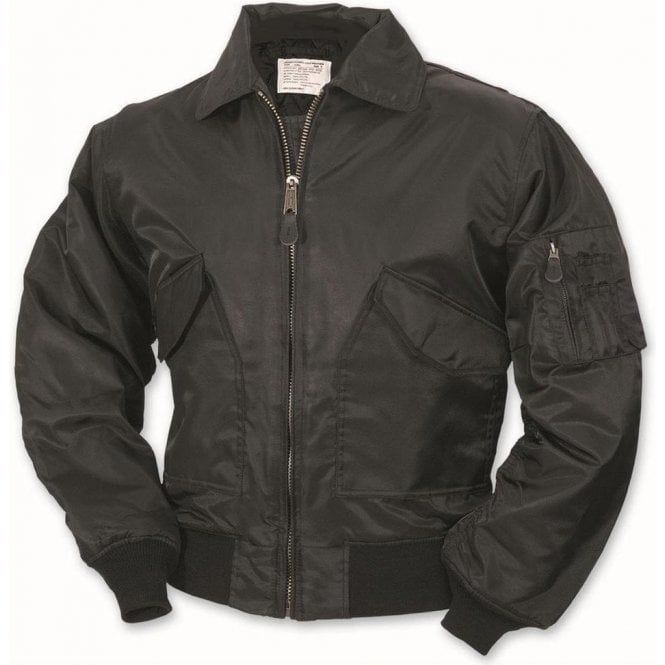 Relco US Flight MA2 Bomber Jacket Black