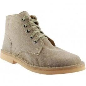 Gents Sand Suede 5 Eye Desert Boots