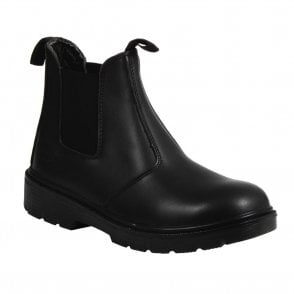 Black Steel Cap Chelsea Boot