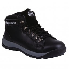 Black Steel Cap Trainer Boot