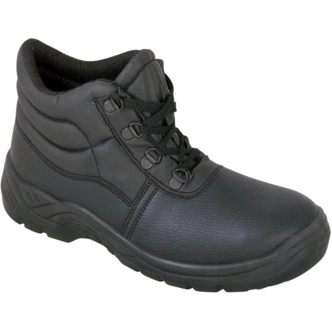 Rugged Terrain D-Ring Steel Cap Chukka Boot with Steel Midsole