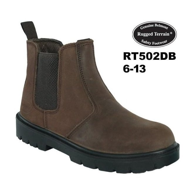 Rugged Terrain Dark Brown Waxy Leather Chelsea Boot SBP SRC