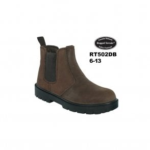 Dark Brown Waxy Leather Chelsea Boot SBP SRC