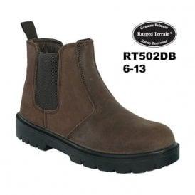 Dark Brown Waxy Leather Chelsea Boot SBP SRC