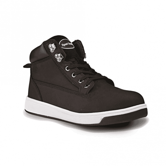 Rugged Terrain Nubuck Sneaker Style Safety Boot
