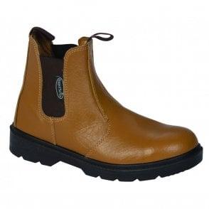 Steel Cap Chelsea Boot Tan