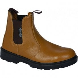 Tan Steel Cap Chelsea Boot