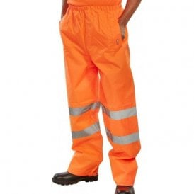 Orange Hi-Vis High Visibility Waterproof Over Trousers