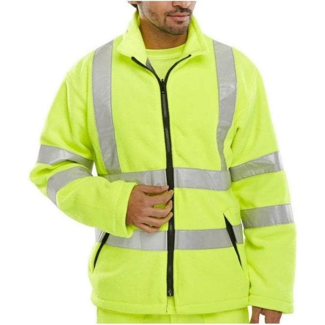 Step Ahead Yellow Hi-Vis High Visibility Fleece