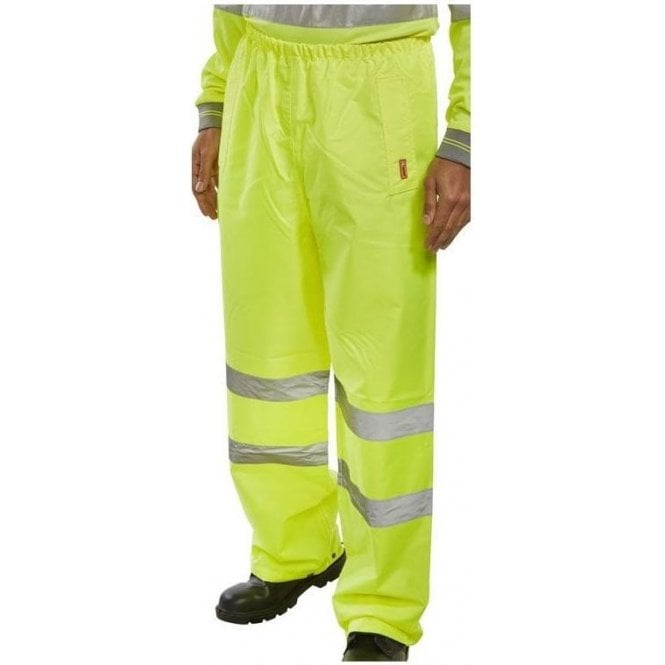 Step Ahead Yellow Hi-Vis High Visibility Waterproof Over Trousers