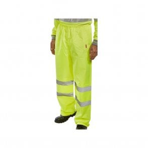 Yellow Hi-Vis High Visibility Waterproof Over Trousers