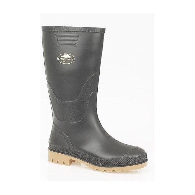 StormWells Kids Black Wellington Boots