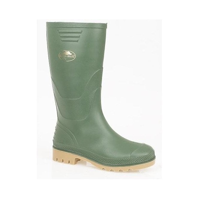 StormWells Kids Green Wellington Boot