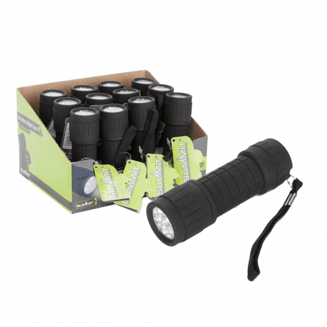Summit 9 LED Ultra Bright Torch with Batteries