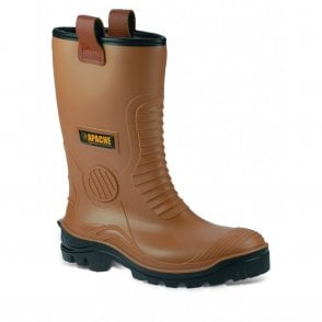 Tan Apache Steel Cap Waterproof Rigger Boot