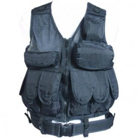Black L/A Special Forces Tactical Vest