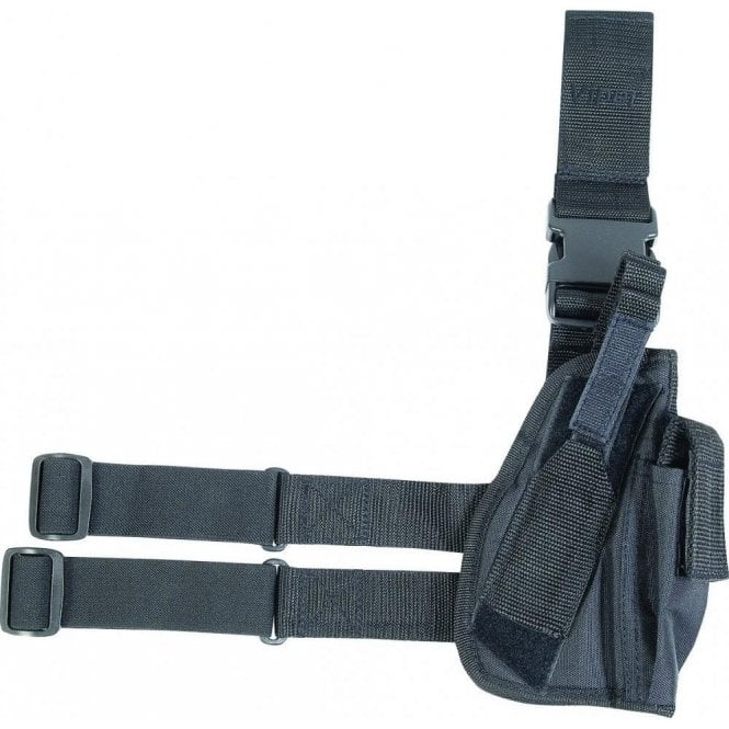 Black Tactical Gun Leg Holster